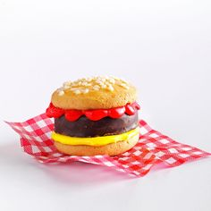 Burger Cookies Recipe -My husband loves peppermint patties, and our son is crazy for vanilla wafers. So I put the two together to make a cool cookie that looks just like a burger. Both my guys give the recipe a thumbs-up! —Julie Wellington, Youngstown, OH
