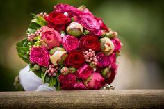 Mein Brautstrauß (Rosen und Pfingstrosen)