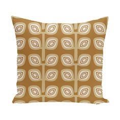 Yareli Leaf Tree Geometric Print  OutdoorThrow Pillow