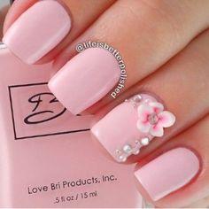 nuxia akriliko nail art pink