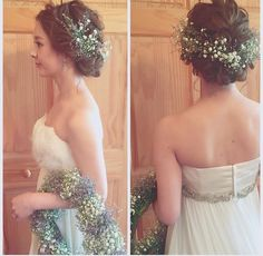 weddinghair Hairdo Wedding, Wedding Hair Flowers, Flowers In Hair, Wedding Colors, Wedding Dresses, Dress Hairstyles, Formal Hairstyles, Bride Hairstyles, Wedding Images