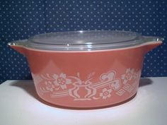 Pyrex Promotional 2 5 Qt Covered Casserole Dish with Bamboo Cradle 475 | eBay