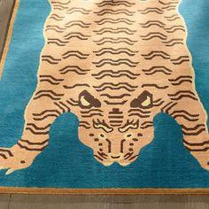 Zin Tiger Rug Tiger Rug, Tiger Design, Grandin Road, Striped Rug, Jungle Animals, Indoor Rugs, Animal Print Rug, Special Events, Area Rugs