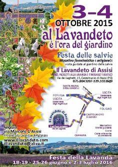 Al Lavandeto è l' ora del giardino. Mostra mercato di florovivaismo e Festa delle Salvie, Assisi | by Assisi OnLine