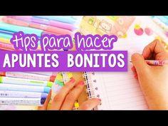 CÓMO HACER APUNTES BONITOS Y PERFECTOS - Tips regreso a clases ✎ Craftingeek - YouTube