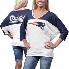 Nike New England Patriots Ladies Football Style Three-Quarter Sleeve T-Shirt