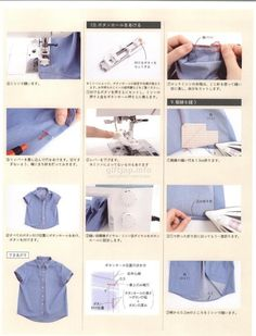 Japanese book and handicrafts - Cotton Friend Sewing Hems, Sewing Clothes, Techniques Couture, Sewing Techniques, Blouse Patterns, Sewing Patterns, Sewing Lessons, Japanese Books, How To Make Clothes