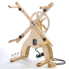 electric and manual yarn skein winders and heavy duty swifts by crazy monkey creations. Diy Spinning Wheel, Hand Spinning, Spinning Wheels, Knitting Books, Knitting Yarn, Kinetic Toys, Yarn Winder, Crochet Tools, Craft Business