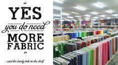 Fabrics and more... >> The fabric bolt said . . .