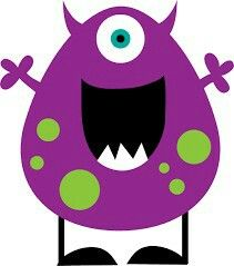 free cute monster clip art blue monster clip art image blue rh pinterest com free cute monster clipart free monster clipart black and white