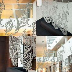 Delicate Cement Art - Doreen Westphal's Concrete Lace Installation Hangs Like a Curtain (GALLERY)