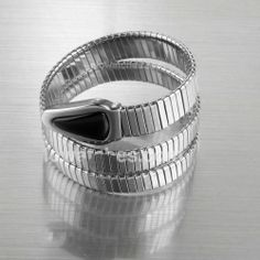 Cheap sale Bvlgari Serpenti Snake Black Stainless Steel Bracelet