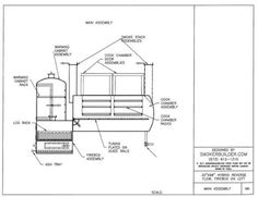 Blueprints for bbq pit smoker big pappa bills beast 500 gal woodworking custom smoker plans malvernweather Choice Image