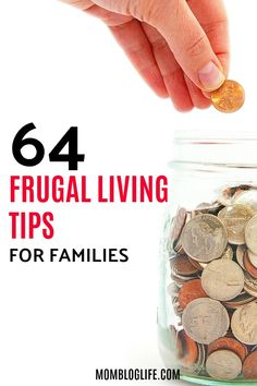 A collection of 64 awesome frugal living tips for families or anyone really looking to lead a more frugal lifestyle. Frugal living is the way to go if you want to stretch your dollars and live life on your terms. Check out these amazing frugal living tips!