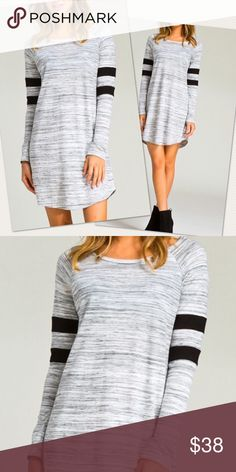 NWT sports style dress Up for sale brand new with tags long sleeve dress.Color:Gray cherish Dresses Long Sleeve