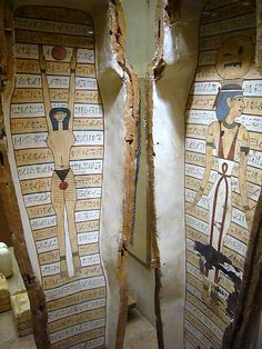 Interior of Ancient Egyptian Coffin