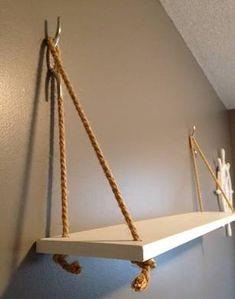 Nautical beach house whale nursery theme decor hanging shelf with ...