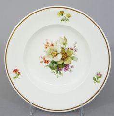 KPM Berlin Teller / Brotteller mit bunter Blumenmalerei, D= 16,5cm #1 in Antiquitäten & Kunst, Porzellan & Keramik, Porzellan   eBay