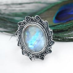 Wedding Gift 925 Sterling Silver Handmade Rainbow Moonstone Ring Nickel Free Rainbow Moonstone Ring Rainbow Moonstone Ring NOTE : 925 Sterling Silver It is made up of 925 Sterling Silver and Rainbow Moonstone Gemstone Boho Rings, Jewelry Rings, Jewellery, Magical Jewelry, Unique Jewelry, Moonstone Jewelry, Diamond Jewelry, Mirror Jewelry Armoire, Hair Jewels