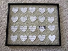 "Step-by-step instructions on how she did it. Could use metal ""tin"" frame to tie it into 10th anniv. diy wedding gifts 