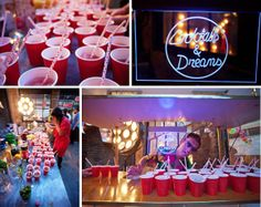 Colour Pop, Cocktails and Candy Anthony ~ A Retro Style Party Wedding in East London...