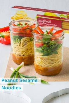Peanut Sesame Noodles -- add a little kick to your lunch routine.