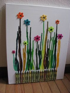 Crayon canvas art work! @Esther Burns and @Lindsey Palmer this should be yall's next project!! :)