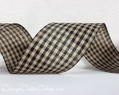 20 yards per roll Blackberry Plaid Ribbon 2 widths
