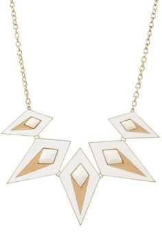 Bansri White Catana Necklace  I love geometric jewelry and patterns in general, I think it's the perfectionist in me