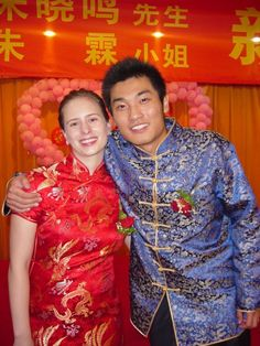 Two teachers get married in China -- she's from the US and he's from China.