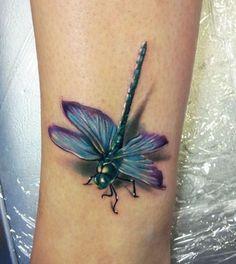 Fotos de Tatuagem de libélua e significado
