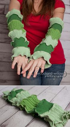 I made these  cool Holiday Inspired Armwarmers. (Katwise pattern) Love her stuff!!