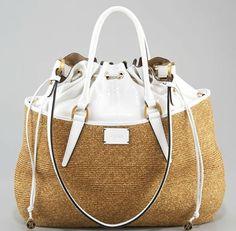 Draw String Top Raffia Bag by Fendi #Handbag #Fendi #Raffia by ChoCo____