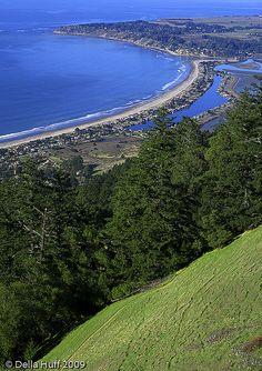 Stinson Beach from Bolinas Ridge  by Della Huff photography