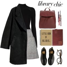 Finals by carolinafrancesca on Polyvore featuring Misha Nonoo, H&M, Acne Studios, Dr. Martens, Mahi, finals and librarychic