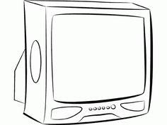 Zdjęcie: televisor para colorear