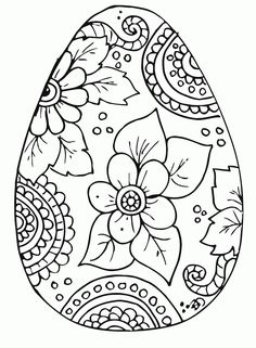 Free Easter Egg Coloring Pages | Children's Templates & Printables | …