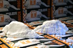 The NEW 2015 UT Dry Erase Rock. New UT Logo, Same Replica Rock. The UT Dry Erase Rock by College Replicas.