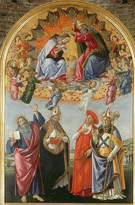 Bild:  Sandro Botticelli - Krönung Mariae