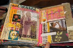 beautiful, rich, mixed media journal