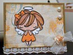 angelic handmade card