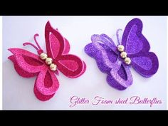 How To Make Butterfly, Butterfly Crafts, Flower Crafts, Butterfly Mobile, Foam Sheet Crafts, Foam Crafts, Diy Crafts, Paper Flowers Craft, Easy Paper Crafts
