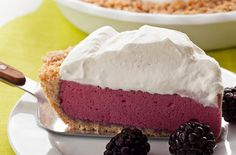 blackberry chiffon pie Not even sure if I'd like it, but it looks delicious!
