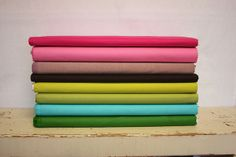 Solids to coordinate Ansonia by Denyse Schmidt by pink chalk studio, via Flickr
