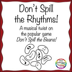 Music Center: Don't Spill the Rhythms! - Rhythm Game based on Don't Spill the Beans. Great for centers!!