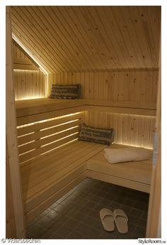 belysning,bastu,bastubelysning,bastulav,bastukudde Home Spa Room, Spa Rooms, Japanese Sauna, Sauna Shower, Japanese Bathroom, Saunas, Relax, Stairs, Indoor
