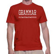 Funny Grammar Police Judge Jury Enforcer Tee - Teacher Gift by TwistedMonkeyApparel on Etsy
