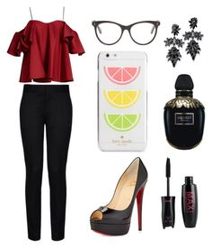 """""""Sans titre #1839"""" by merveille67120 ❤ liked on Polyvore featuring Anna October, STELLA McCARTNEY, Christian Louboutin, Kate Spade, Fallon and Alexander McQueen"""