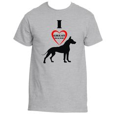 I Love Great Dane T-Shirts, Tees & Shirts | Underground Statements