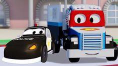 Carl o Super Caminhão e Carro de corrida na Cidade do Carro   Desenho animado para crianças - YouTube